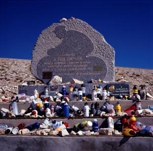 Monumento a Tom Simpson en el Mont Ventoux